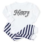 Black and White Navy Toddler Pajamas
