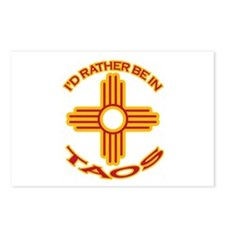 I'd Rather Be In Taos Postcards (Package of 8)