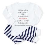 Multilingual Breastmilk Toddler Pajamas