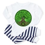 Circle Celtic Tree of Life Toddler Pajamas