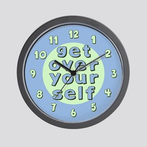 Get Over Yourself Wall Clock