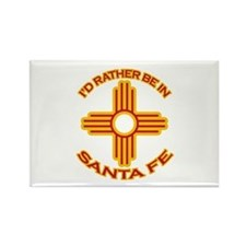 I'd Rather Be In Santa Fe Rectangle Magnet