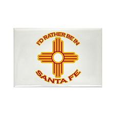 I'd Rather Be In Santa Fe Rectangle Magnet