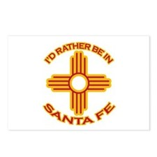 I'd Rather Be In Santa Fe Postcards (Package of 8)
