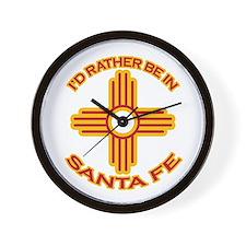 I'd Rather Be In Santa Fe Wall Clock