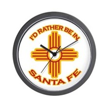 I'd Rather Be In Santa Fe Wall Clock