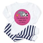 Eggs nuts & dairy-pink Toddler Pajamas