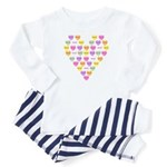 Candy Hearts Toddler Pajamas