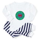 peace love twins Toddler Pajamas