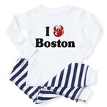 I Love Boston Toddler Pajamas