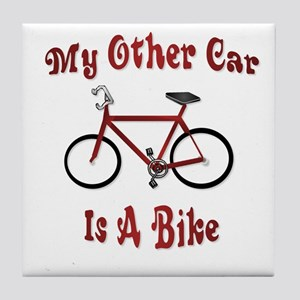 My Other Car Is A Bike Tile Coaster