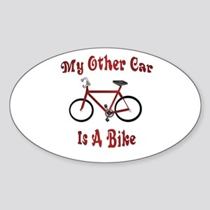 My Other Car Is A Bike Oval Sticker
