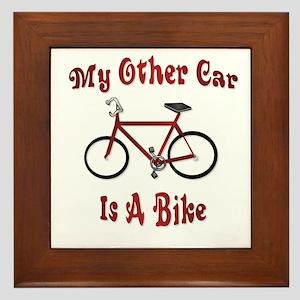 My Other Car Is A Bike Framed Tile