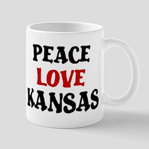 Peace Love Kansas Mug