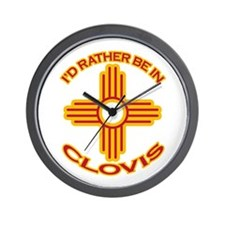 I'd Rather Be In Clovis Wall Clock