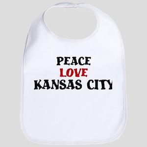 Peace Love Kansas City Bib