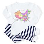 China Map Toddler Pajamas