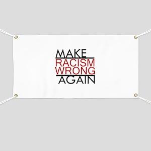 make racism wrong again black lives matter Banner
