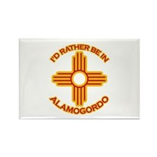 I'd Rather Be In Alamogordo Rectangle Magnet