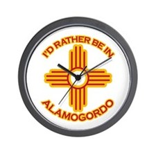 I'd Rather Be In Alamogordo Wall Clock