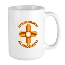 I'd Rather Be In Alamogordo Large Mug