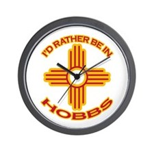 I'd Rather Be In Hobbs Wall Clock