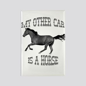 My Other Car Is A Horse Rectangle Magnet