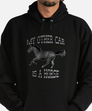 My Other Car Is A Horse Hoodie (dark)