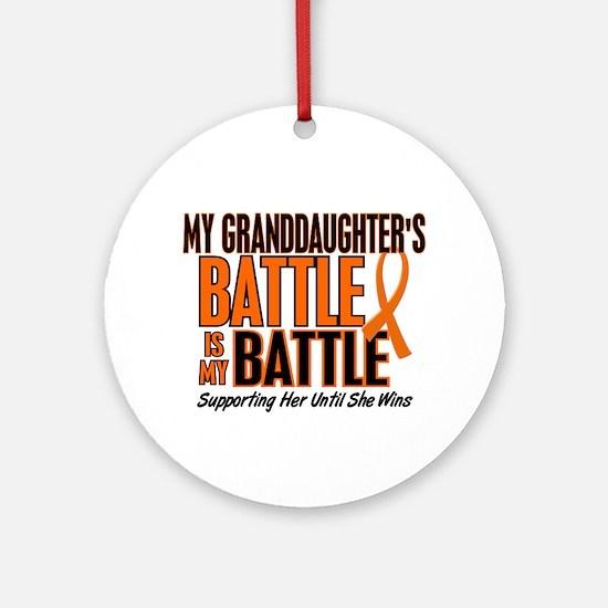 My Battle Too (Granddaughter) Orange Ornament (Rou