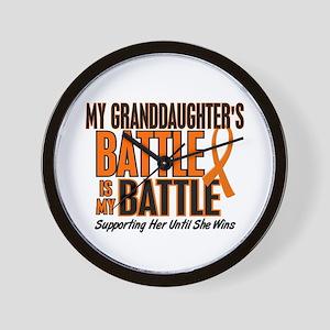 My Battle Too (Granddaughter) Orange Wall Clock