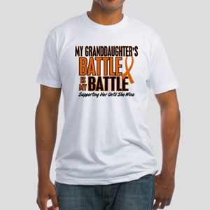 My Battle Too (Granddaughter) Orange Fitted T-Shir