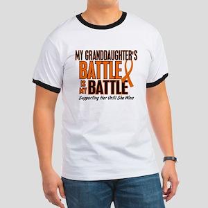 My Battle Too (Granddaughter) Orange Ringer T