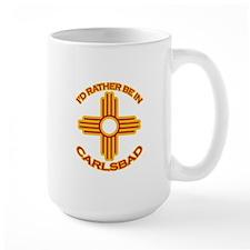 I'd Rather Be In Carlsbad Large Mug