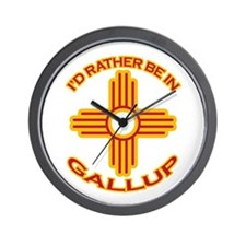 I'd Rather Be In Gallup Wall Clock