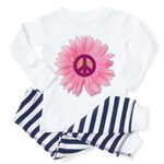 Pink Peace Daisy Toddler Pajamas