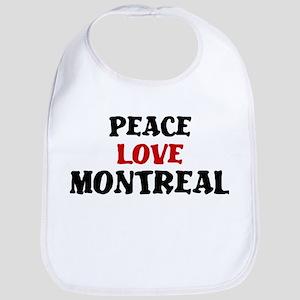 Peace Love Montreal Bib