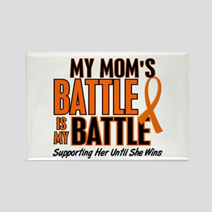 My Battle Too (Mom) Orange Rectangle Magnet