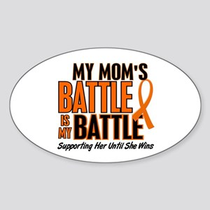 My Battle Too (Mom) Orange Oval Sticker