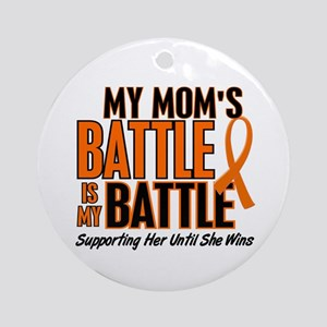 My Battle Too (Mom) Orange Ornament (Round)