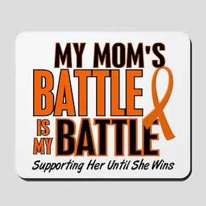 My Battle Too (Mom) Orange Mousepad