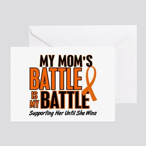 My Battle Too (Mom) Orange Greeting Card