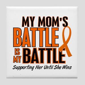 My Battle Too (Mom) Orange Tile Coaster