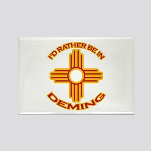 I'd Rather Be In Deming Rectangle Magnet