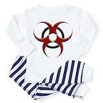 3D Biohazard Symbol Toddler Pajamas