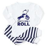 How I Roll - Shocking Biker Toddler Pajamas