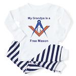 Grandpa is a Free Mason Toddler Pajamas