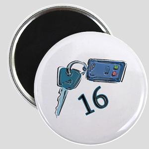 16th B-day Car Keys Magnet