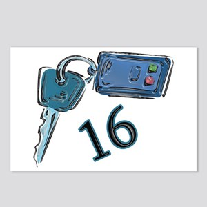 16th B-day Car Keys Postcards (Package of 8)