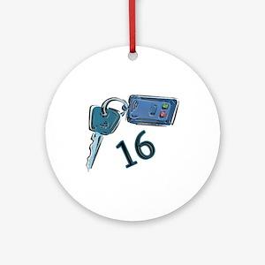 16th B-day Car Keys Ornament (Round)