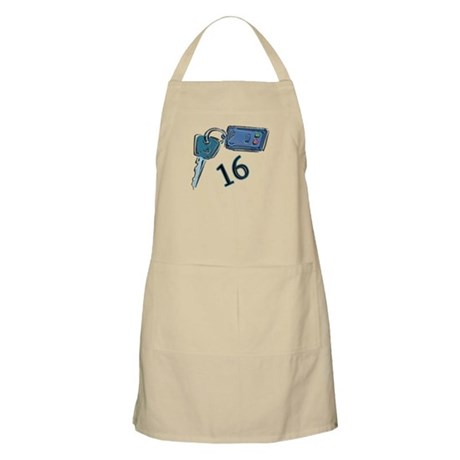 16th B-day Car Keys BBQ Apron